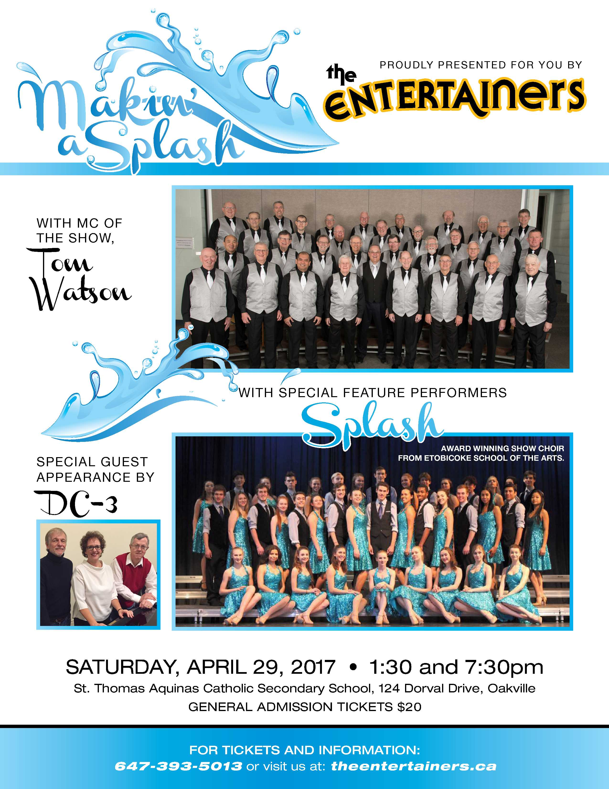 Oakville The Entertainers Chapter Show Ontario District Barbershop Harmony Society